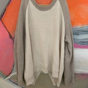 Two toned Madewell sweater